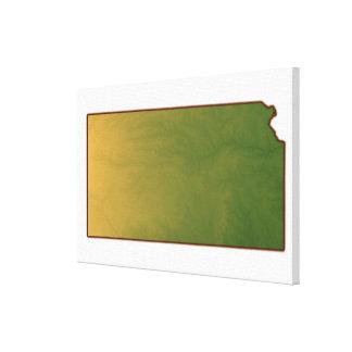 Map of Kansas Canvas Prints