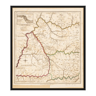 Map of Kentucky (1793) Canvas Print