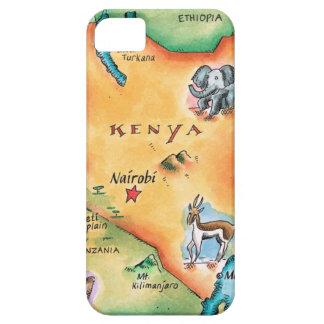 Map of Kenya iPhone 5 Covers