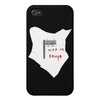 Map of Kenya iPhone 4/4S Cases