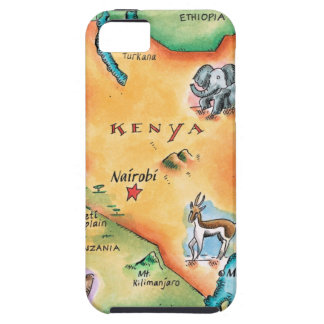 Map of Kenya iPhone 5 Cases