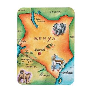Map of Kenya Rectangular Magnet
