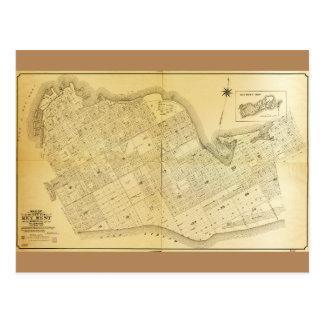 Map of Key West, Florida (1906) Postcard