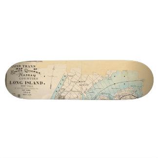 Map of Kings, Queens, Long Island 21.6 Cm Old School Skateboard Deck