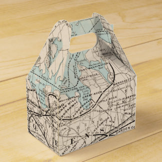 Map of Kings, Queens, Long Island Favour Box