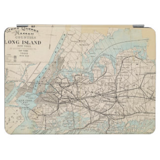 Map of Kings, Queens, Long Island iPad Air Cover