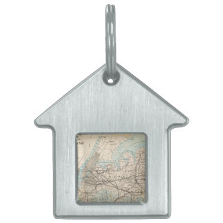 Map of Kings, Queens, Long Island Pet Tag