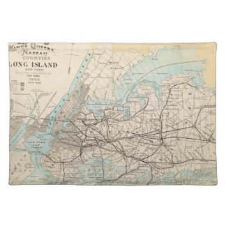Map of Kings, Queens, Long Island Place Mat