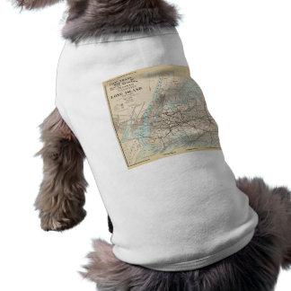 Map of Kings, Queens, Long Island Sleeveless Dog Shirt