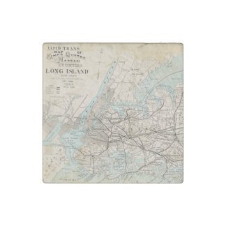Map of Kings, Queens, Long Island Stone Magnet