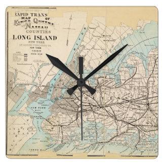 Map of Kings, Queens, Long Island Wallclock