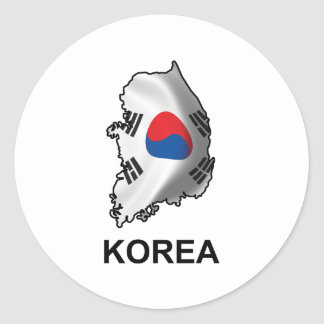 Map Of Korea Classic Round Sticker