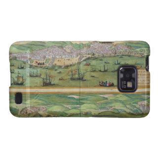 Map of Lisbon, and Cascais, from 'Civitates Orbis Samsung Galaxy SII Cases