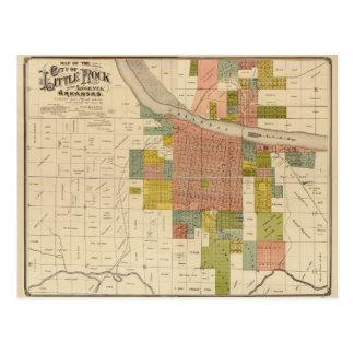 Map of Little Rock and Argenta, Arkansas (1888) Postcard