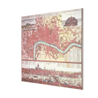 Map of London Gallery Wrapped Canvas