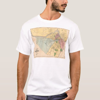 Map of Lowell, Massachusets (1881) T-Shirt