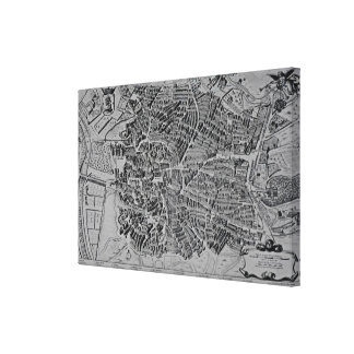 Map of Madrid Gallery Wrapped Canvas