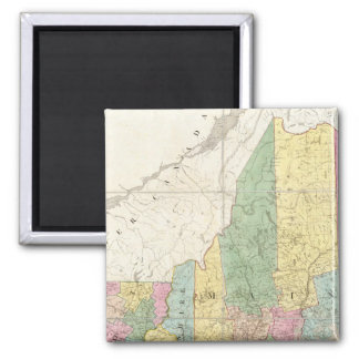 Map of Maine, New Hampshire, Vermont Square Magnet