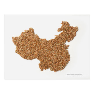Map of Mainland China made of Glutinous Rice Postcard