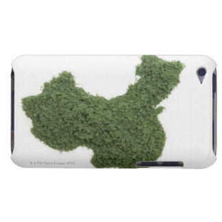 Map of Mainland China made of grass 2 Barely There iPod Cover