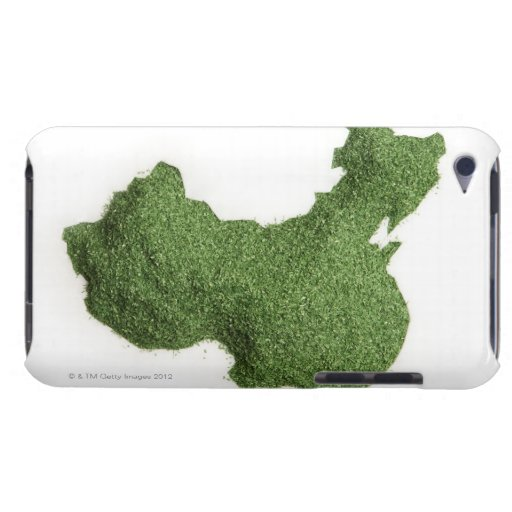 Map of Mainland China made of grass iPod Touch Cover