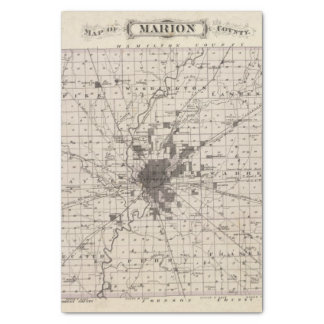 Map of Marion County 2 Tissue Paper