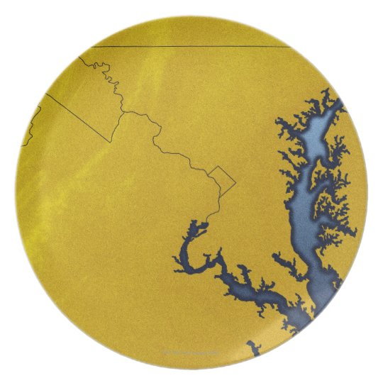 Map of Maryland 4 Plate
