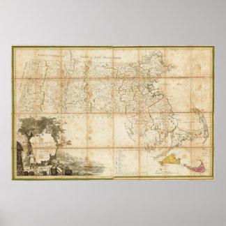 Map Of Massachusetts Poster
