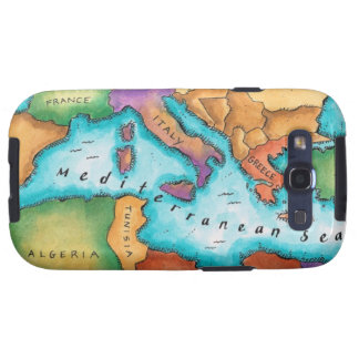 Map of Mediterranean Sea Samsung Galaxy S3 Cover