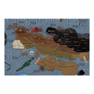 Map of Metal second edition Colossal Size Posters