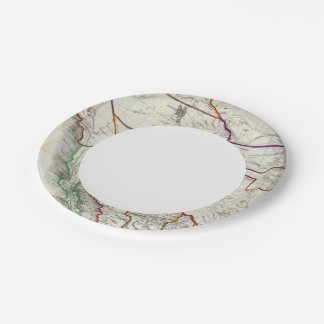 Map Of Mexico & California 7 Inch Paper Plate