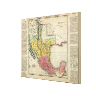Map Of Mexico Canvas Prints