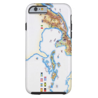 Map of Mexico, Central America and Caribbean Tough iPhone 6 Case