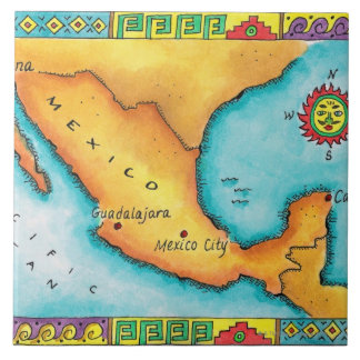 Map of Mexico Ceramic Tile