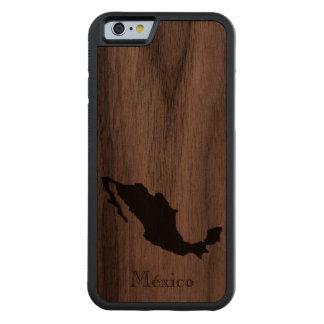Map of Mexico: Classic Design Walnut iPhone 6 Bumper Case