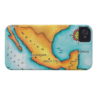 Map of Mexico iPhone 4 Cover