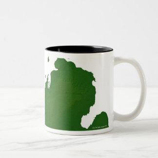 Map of Michigan Two-Tone Coffee Mug