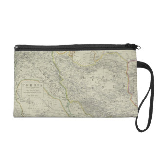 Map of Middle East Wristlet Clutches