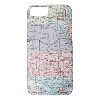 map of Midwest USA iPhone 8/7 Case