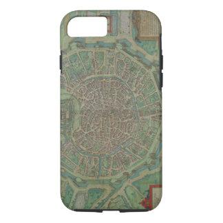 Map of Milan, from 'Civitates Orbis Terrarum' by G iPhone 7 Case