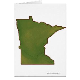 Map of Minnesota Card