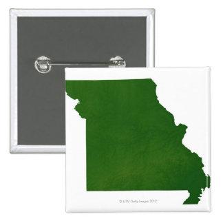 Map of Missouri 15 Cm Square Badge