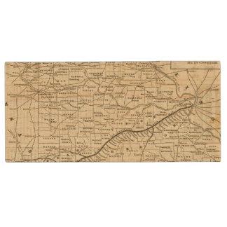 Map of Missouri 2 Wood USB 2.0 Flash Drive