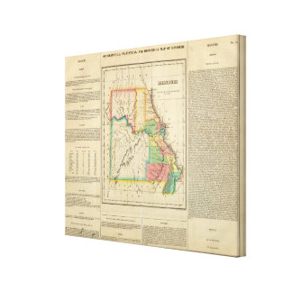 Map Of Missouri Gallery Wrapped Canvas