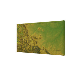 Map of Montana Stretched Canvas Print