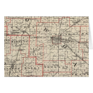 Map of Morgan & Scott counties Card