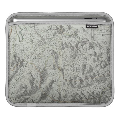 Map of Mountains Sleeves For iPads