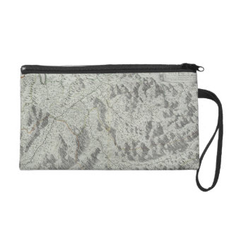 Map of Mountains Wristlet Clutch