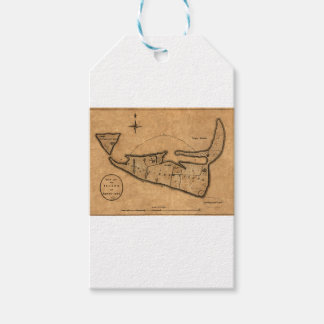 Map of Nantucket 1782 Gift Tags