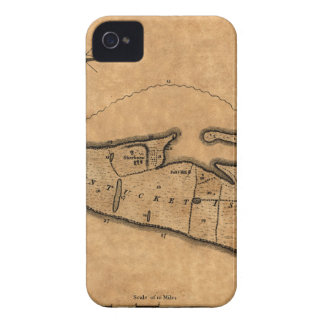 Map of Nantucket 1782 iPhone 4 Cover
